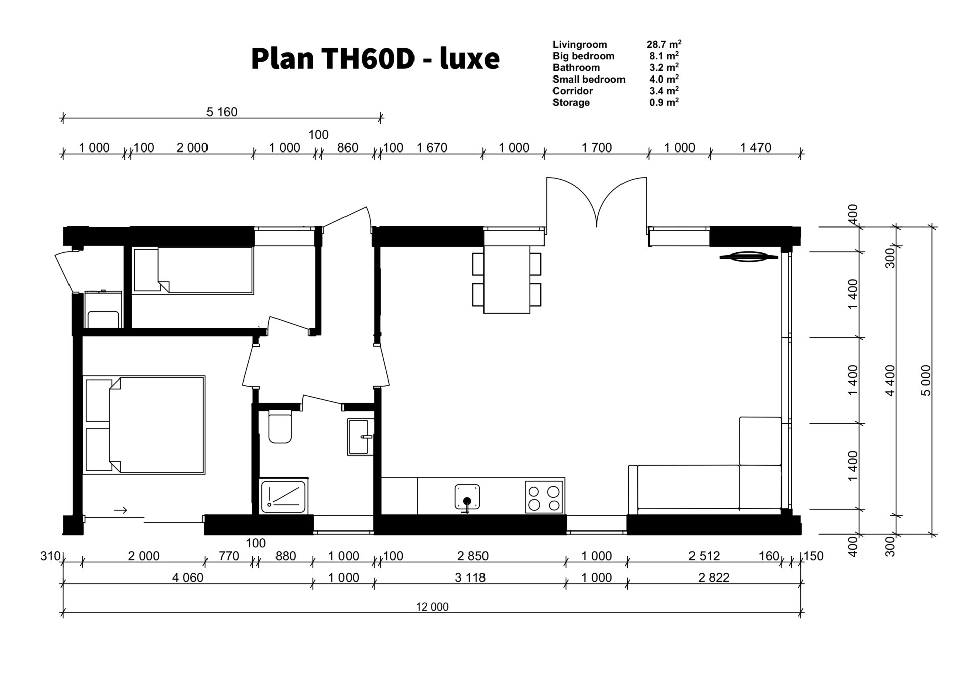 TH60D - luxe plan