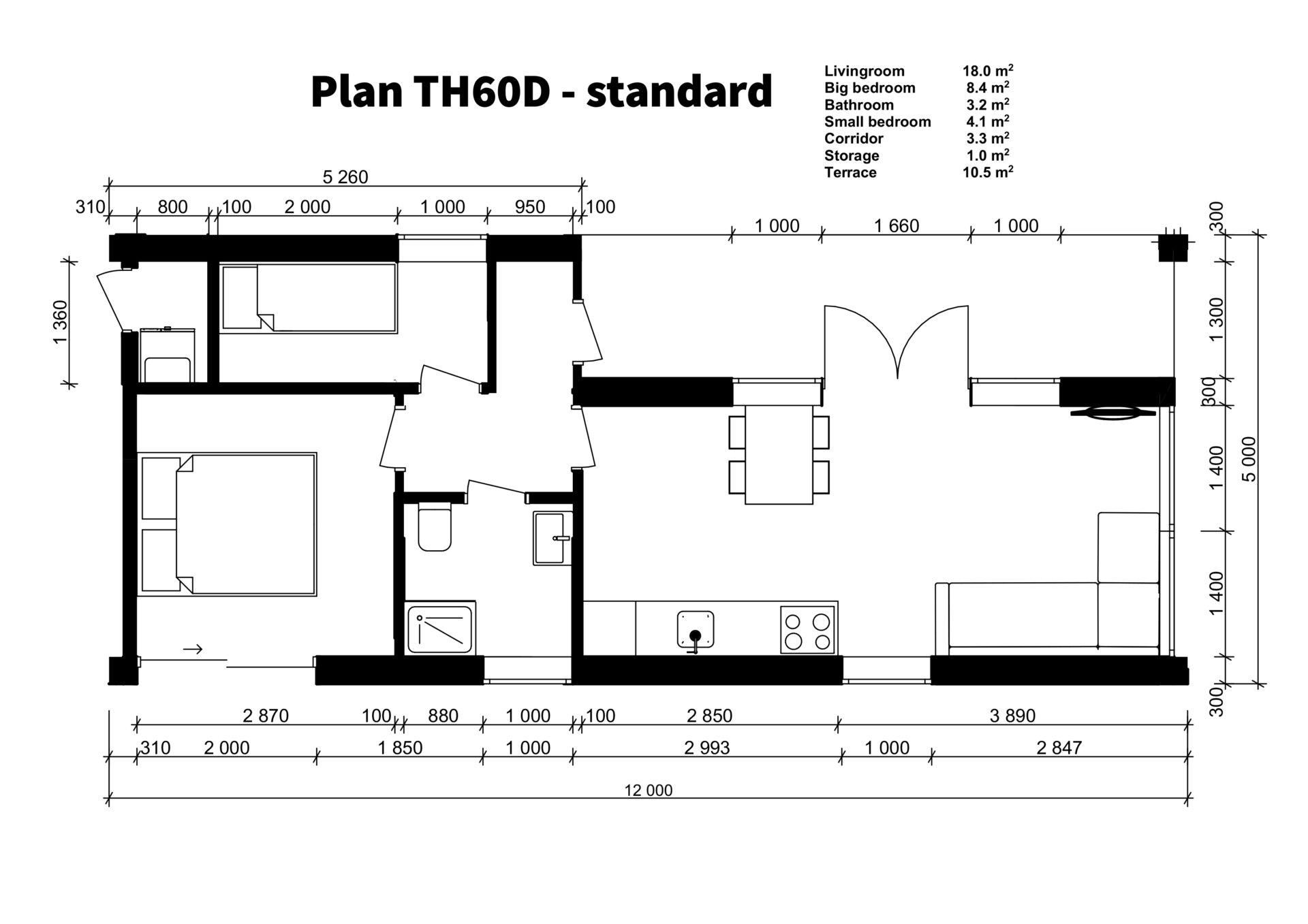 TH60D - standard plan